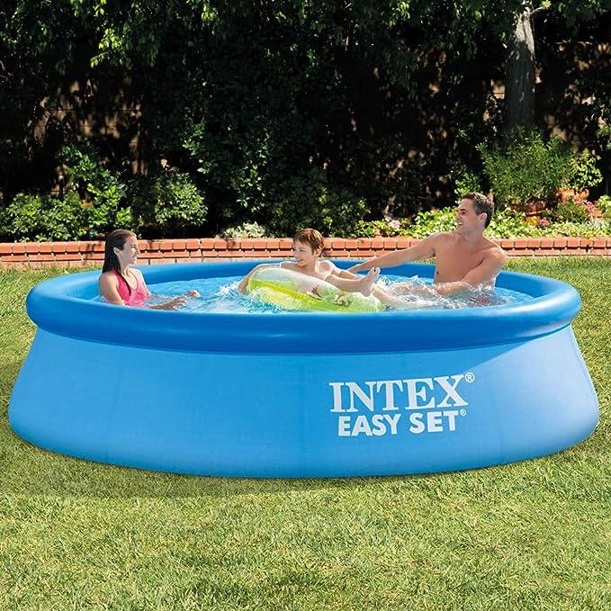 Intex 28120NP - Piscina hinchable octogonal 305 x 76 cm, 3.853 litros: Amazon.es: Jardín