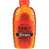 Nature Nate's 100% Pure Raw & Unfiltered Georgia Honey; 32-oz. Squeeze Bottle; Certified Gluten Free and OU Kosher…