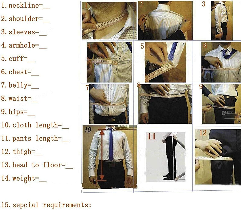 Lilis/® Mens 3 Pieces Suits for Wedding Pure White Collar Tuxedo Jacket Vest /& Trousers
