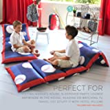 Butterfly Craze Kid's Floor Pillow Bed Cover - Use