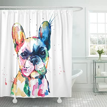 Image Unavailable Not Available For Color Emvency Shower Curtain Frenchie French Bulldog