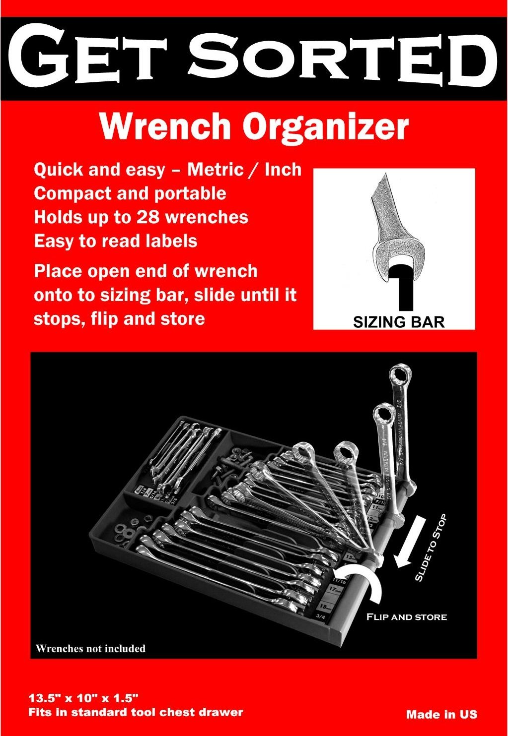 Open end wrench holder