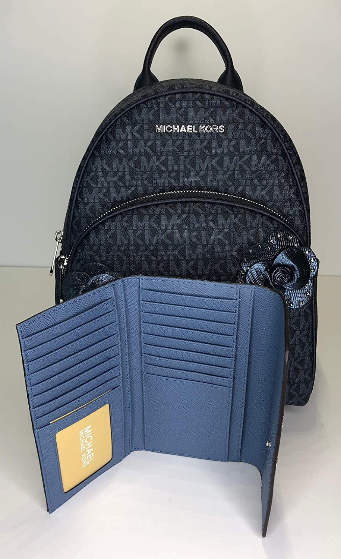 1d3f914d4dcf Amazon.com  MICHAEL Michael Kors Abbey MD Backpack bundled with Michael Kors  Jet Set Travel Trifold Wallet (Signature MK Admiral)  Shoes
