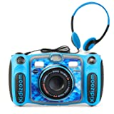 VTech Kidizoom Duo 5.0 Deluxe Digital Selfie Camera with MP3 Player & Headphones, Blue (Color: Blue)