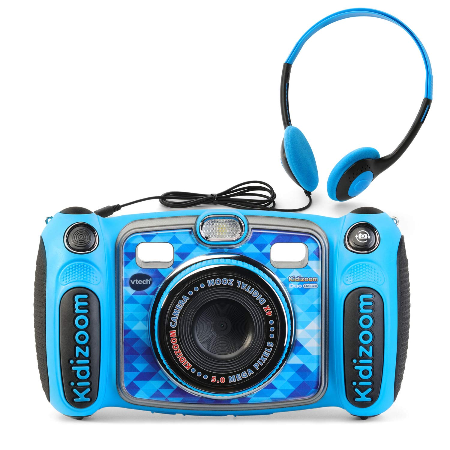 VTech Kidizoom Duo 5.0 Deluxe Digital Selfie Camera with MP3 Player & Headphones, Blue 80-507160
