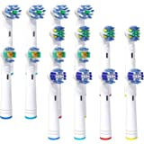 16 Pack Homasen Replacement Brush Heads for Oral B Electric Toothbrush, Compatible with Pro Genius and Smart, Including…