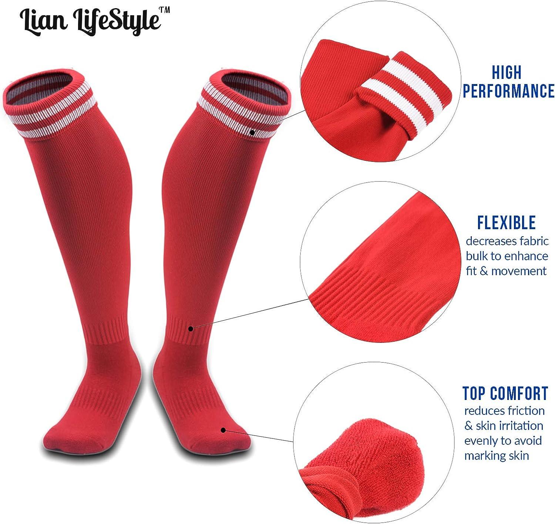 Lian LifeStyle Boys 1 Pair Exceptional Knee High Sports Socks XL002 Size XXS//XS//S//M