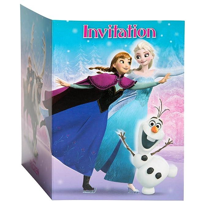 Amazon Com Disney Frozen Invitations 8ct Toys Games