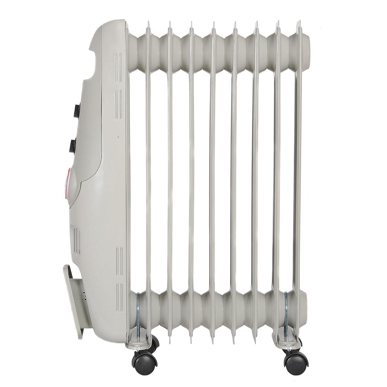 grigio 2 kw radiatore ad olio Timer Igenix IG0500/Baby