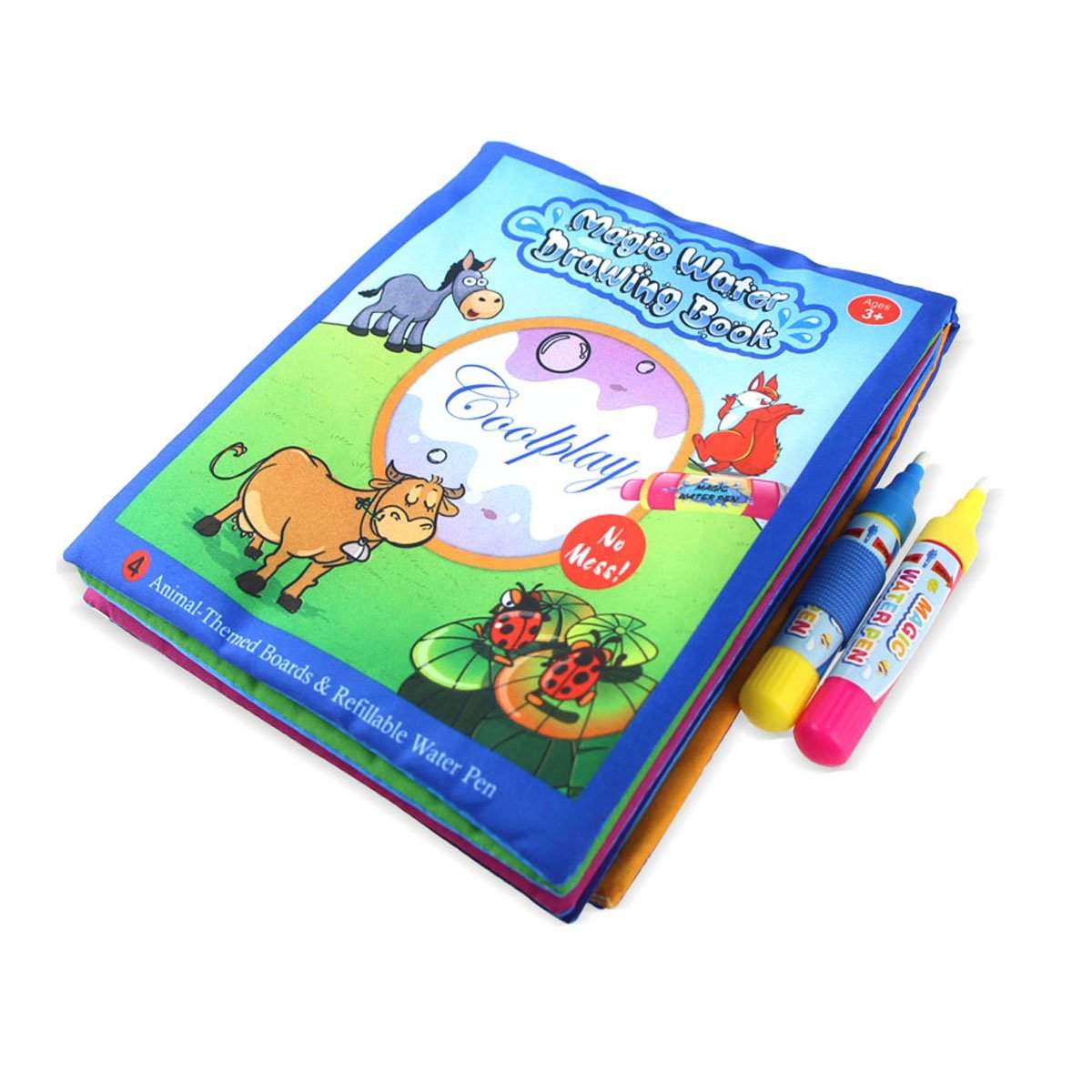 Coolplay Animals Painting Water Coloring Doodle Cloth with 2 Magic Drawing Pens