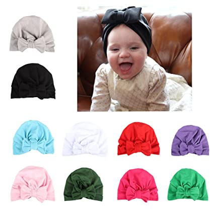 5524e354c CHSEEA Baby Gift Set - 10PCS Cute Baby Hat Set Elastic Turban Headbands  Hair Wraps Hairbands Hair Bow For Toddler Kids Photography Props, Costume,  ...
