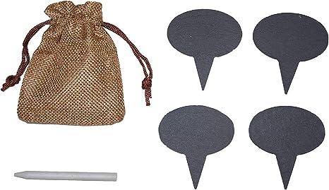 Slate Charcuterie Board with Burlap Storage Bag and Soapstone Chalk