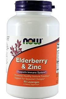 Amazon Com Now Foods Elderberry And Zinc 90 Lozenges Health