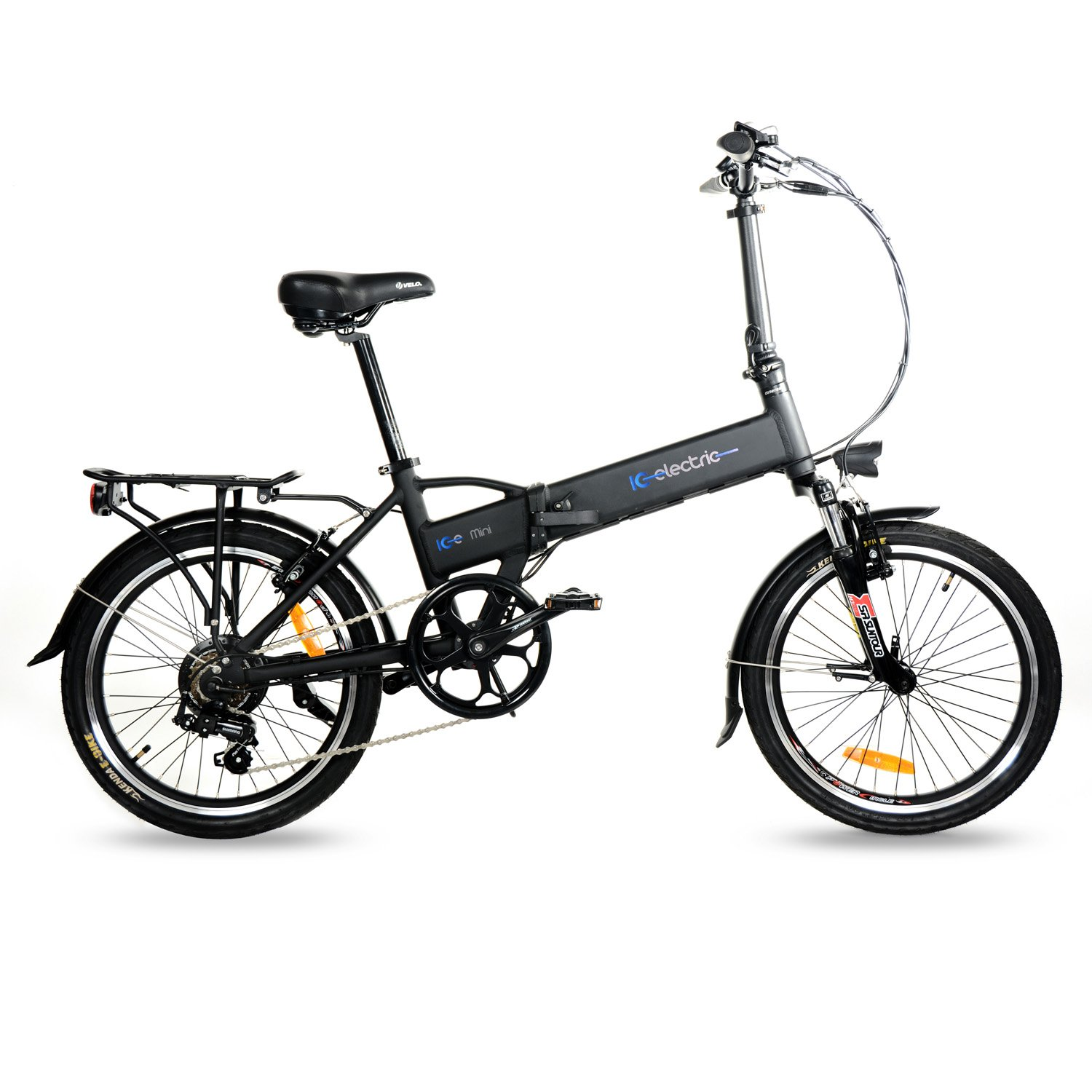 IC Electric Mini Bicicleta plegable Unisex adulto Negro Única