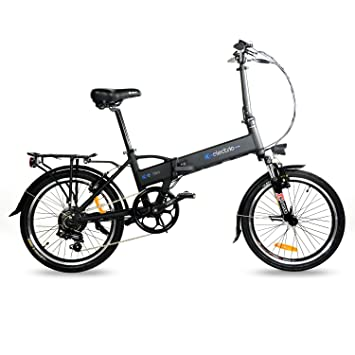 IC Electric Mini Bicicleta Plegable, Unisex Adulto, Negro, Única