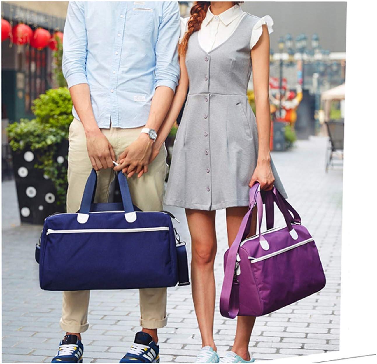 Nosterappou Casual Men and Women Business Travel Bags Business Travel Bags Short-Distance Travel Shoulder Bags Travel Bags Blue Color : Purple