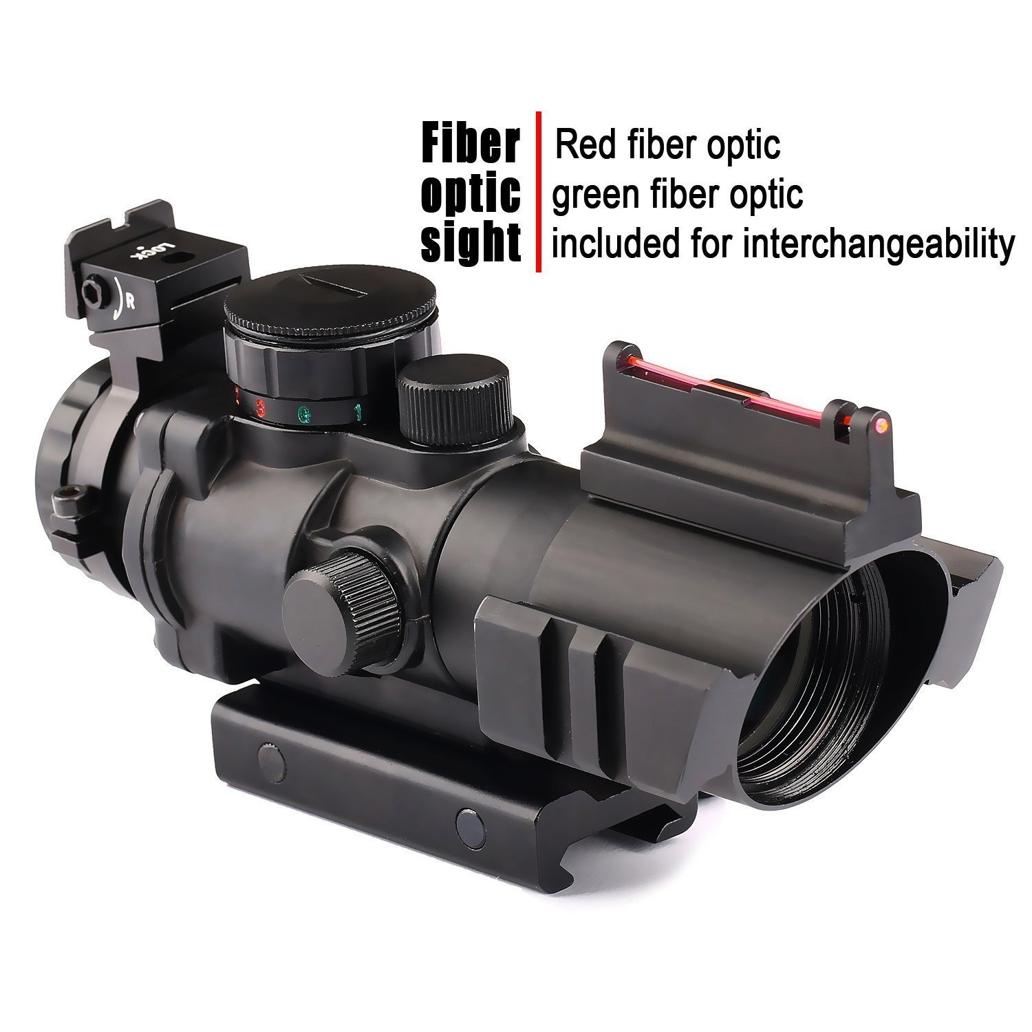 VERY100 Riflescope 4x32mm Red Dot Sight Scope with Red Green Dot Sighting  Target