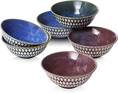 Handmade Ceramic Bowls Set Of 5 Assorted Shapes And Sizes For You Country Kitchen