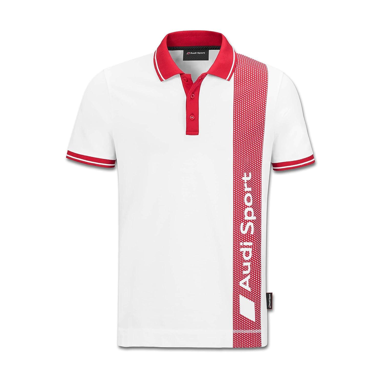 Audi Sport Sport Sport Poloshirt, Herren, weiß Rot (M) B07FYFCXNC Poloshirts Starke Hitze- und HitzeBesteändigkeit 87ae24