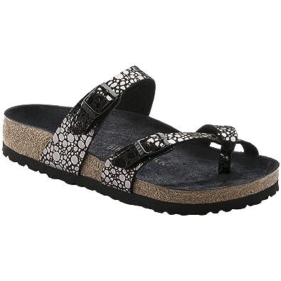 e62187ff41 Birkenstock Womens Mayari Metallic Stones Black Birko-Flor Sandals 40 EU