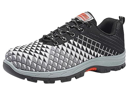 Scarpe Uomo da Lavoro Antinfortunistiche Acciaio Sportive Scarpa Sneaker Ginnastica Trekking Estive