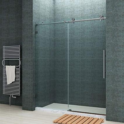 Sunny Shower Fully 60 W X 72 H Frameless Sliding Shower Doors 3 8