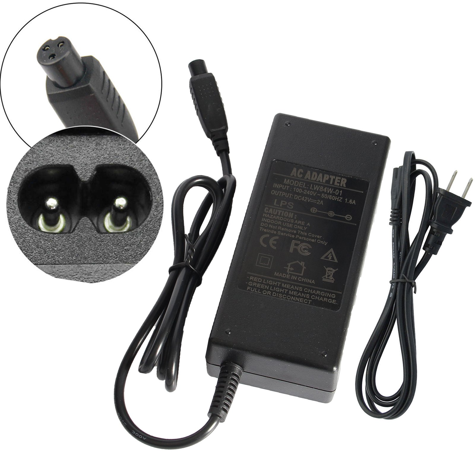 Fancy Buying Adapter Charger 42V 2A AC for Two Wheel Smart Self Balance Schooter (10 Pieces) by Fancy Buying (Image #4)