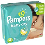 Amazon Price History for:Pampers Baby Dry Diapers - Size 4 (28 ct)