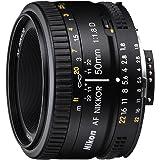 Nikon Obiettivo Nikkor AF 50mm f/1.8D, Nero [Nital Card: 4 Anni di Garanzia]