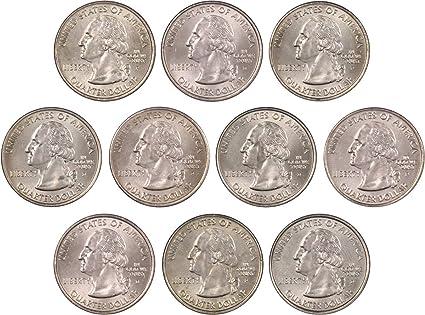 2002 P /& D State Quarter Set From Mint Rolls 10 Quarter Set Uncirculated