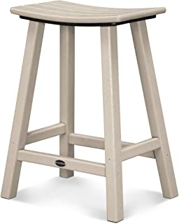 product image for POLYWOOD 2001-SA Traditional Counter Height Saddle Seat Barstool, Sand