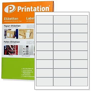 Klebeetiketten DIN A4 weiß 46,5x25,4mm Laser Inkjet Kopierer 1000 Blatt
