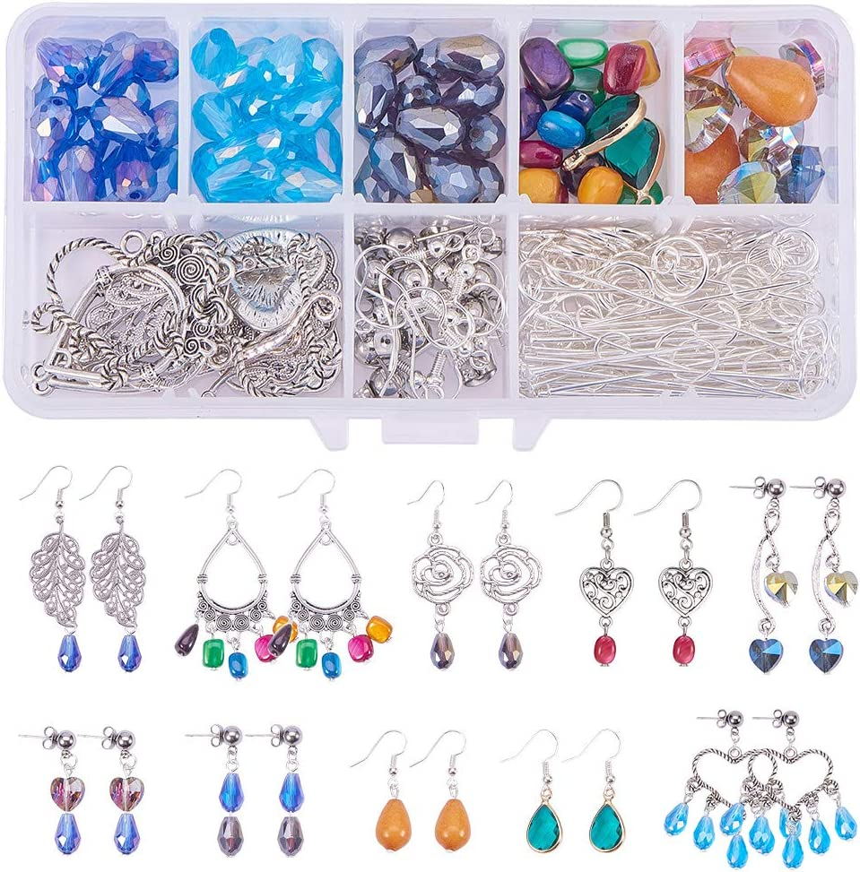 DIY Gemstone Connectors Gold Charms Necklace Pendant Earring Chandelier Findings