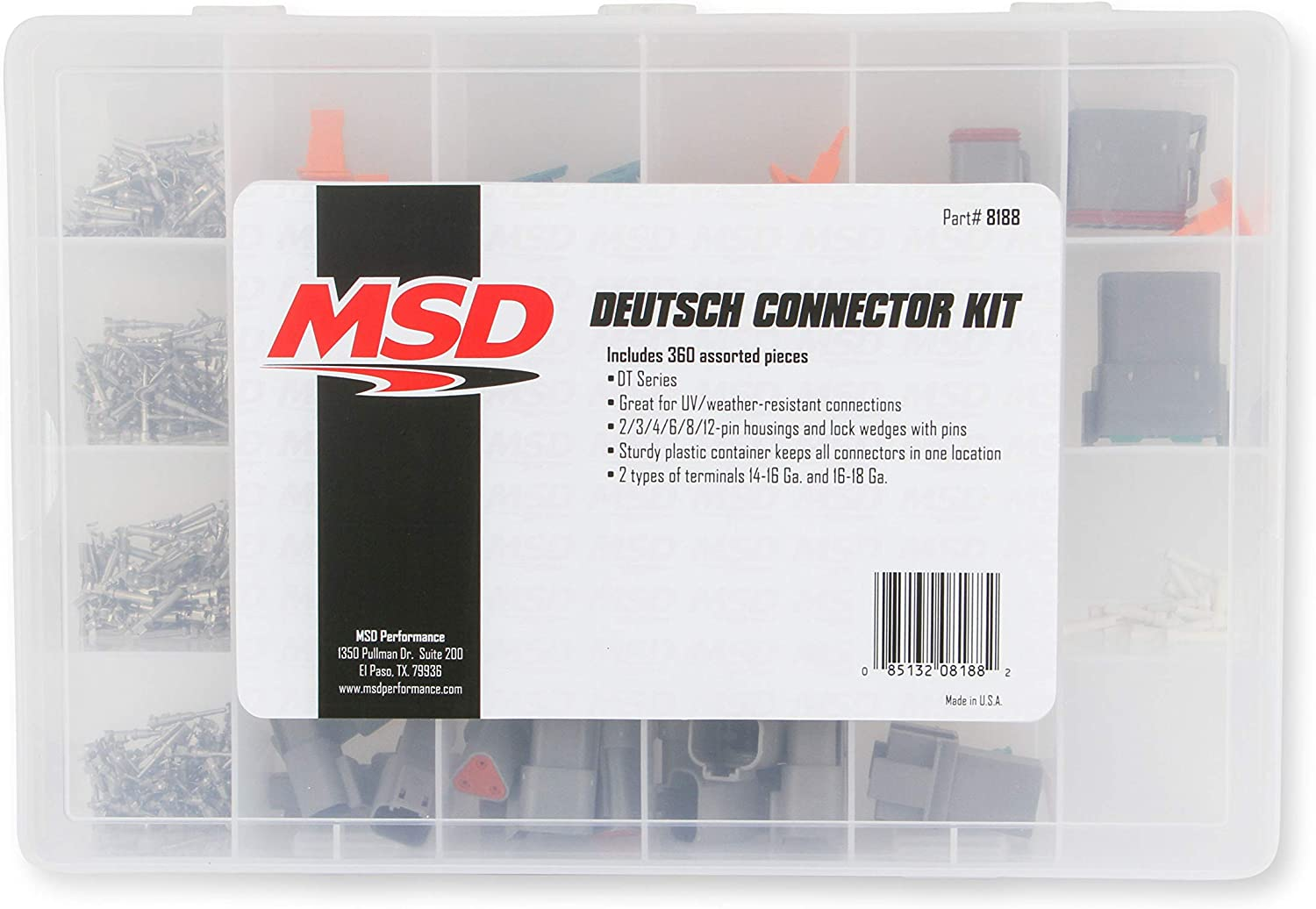 MSD Ignition 8184 2-Pin Deutsch Connector