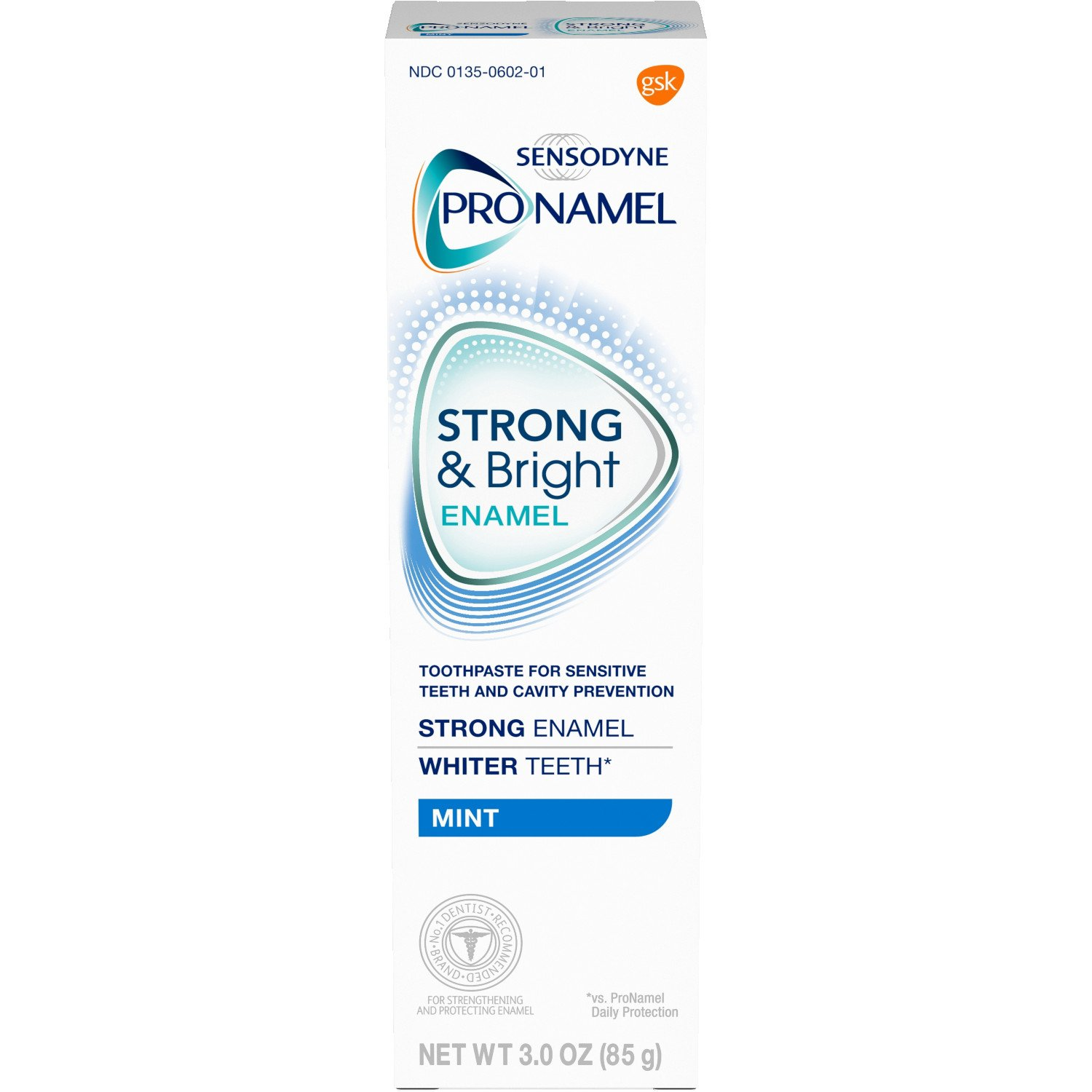 PRONAMEL Sensodyne Pronamel Strong and Bright Enamel Toothpaste for Sensitive Teeth, to Reharden and Strengthen Enamel, Mint - 3 Ounces