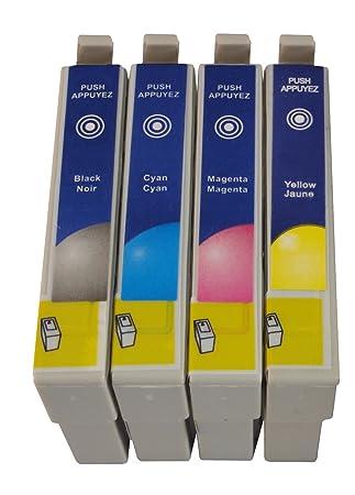 4 cartuchos de impresora compatibles reemplazan Epson T0441 ...