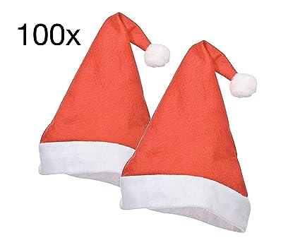 Kinder-Nikolausmütze aus Plüsch Weihnachten Xmas Maske