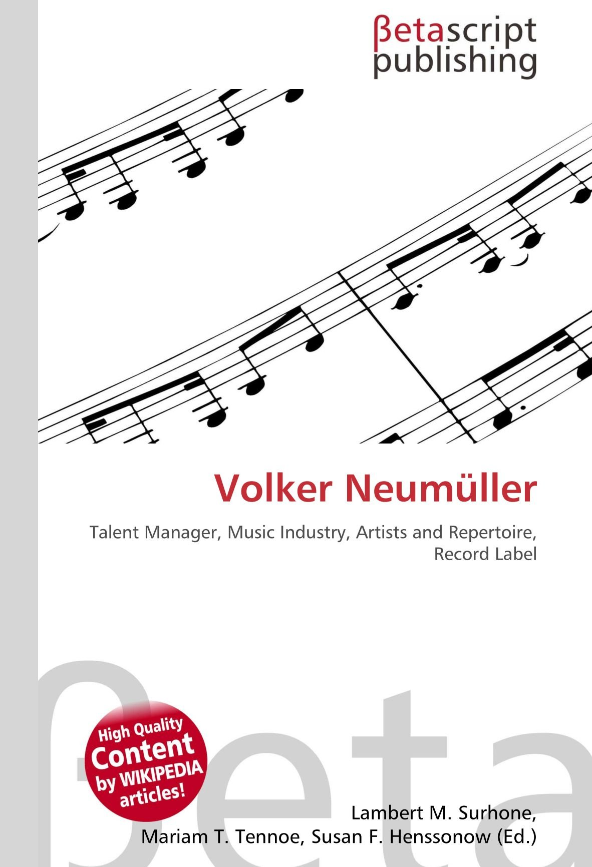 Volker Neumüller: Talent Manager, Music Industry, Artists