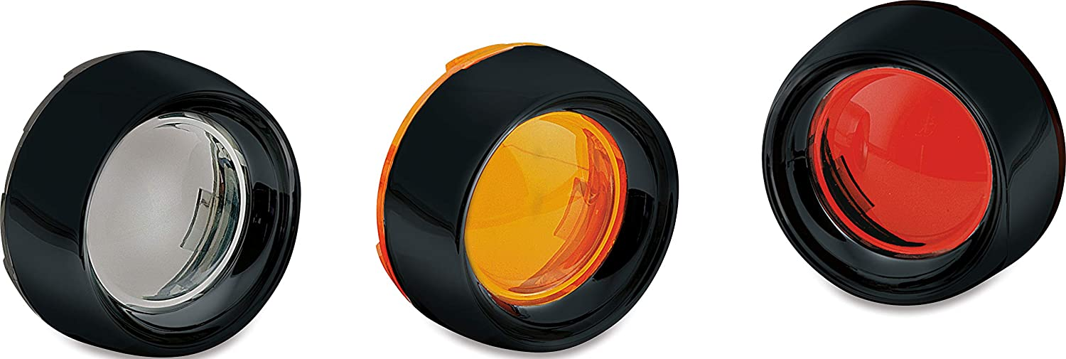 NEW Deep Dish Bezels with Lenses for Bullet Turn Signals 2108 FREE FAST SHIP