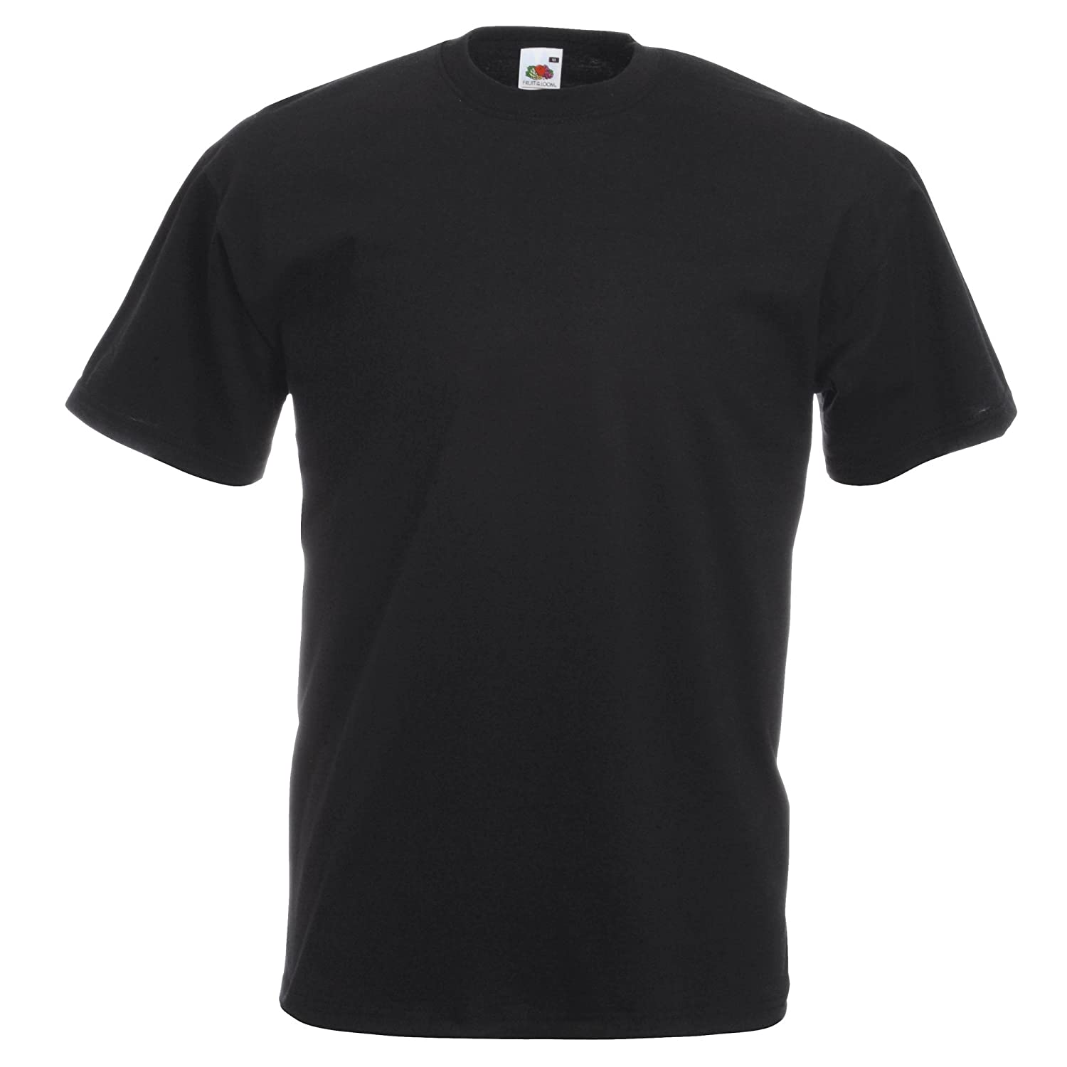 Black t shirt photo - Fruit Of The Loom Mens Valueweight Crew Neck Short Sleeve T Shirt Not V Neck Amazon Co Uk Clothing