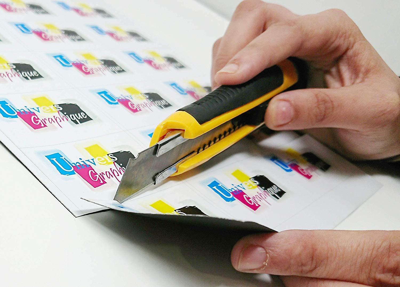 Papier photo A4 210 x 297 mm magn/étique et /étiquette magn/étique blanc satin/é pour imprimante jet dencre et laser Lot de 10 feuilles