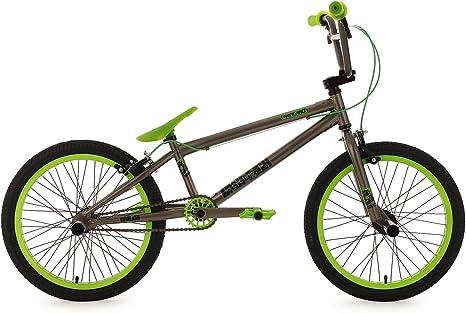 KS Cycling 600B - Bicileta BMX , para todas las medidas a partir de 135 cm, color gris: Amazon.es: Deportes y aire libre