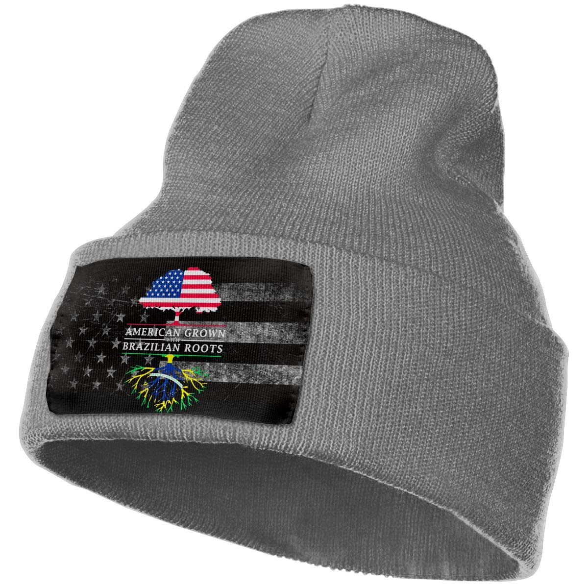 FORDSAN CP American Grown with Brazilian Roots Mens Beanie Cap Skull Cap Winter Warm Knitting Hats.