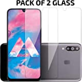 ANTBULL Tempered Glass Screen Protector for Samsung Galaxy M30S / Samsung Galaxy M30 / A50S / A50 / A30S / Samsung Galaxy A30 with Easy Installation Kit (Transparent) [Pack of 2]