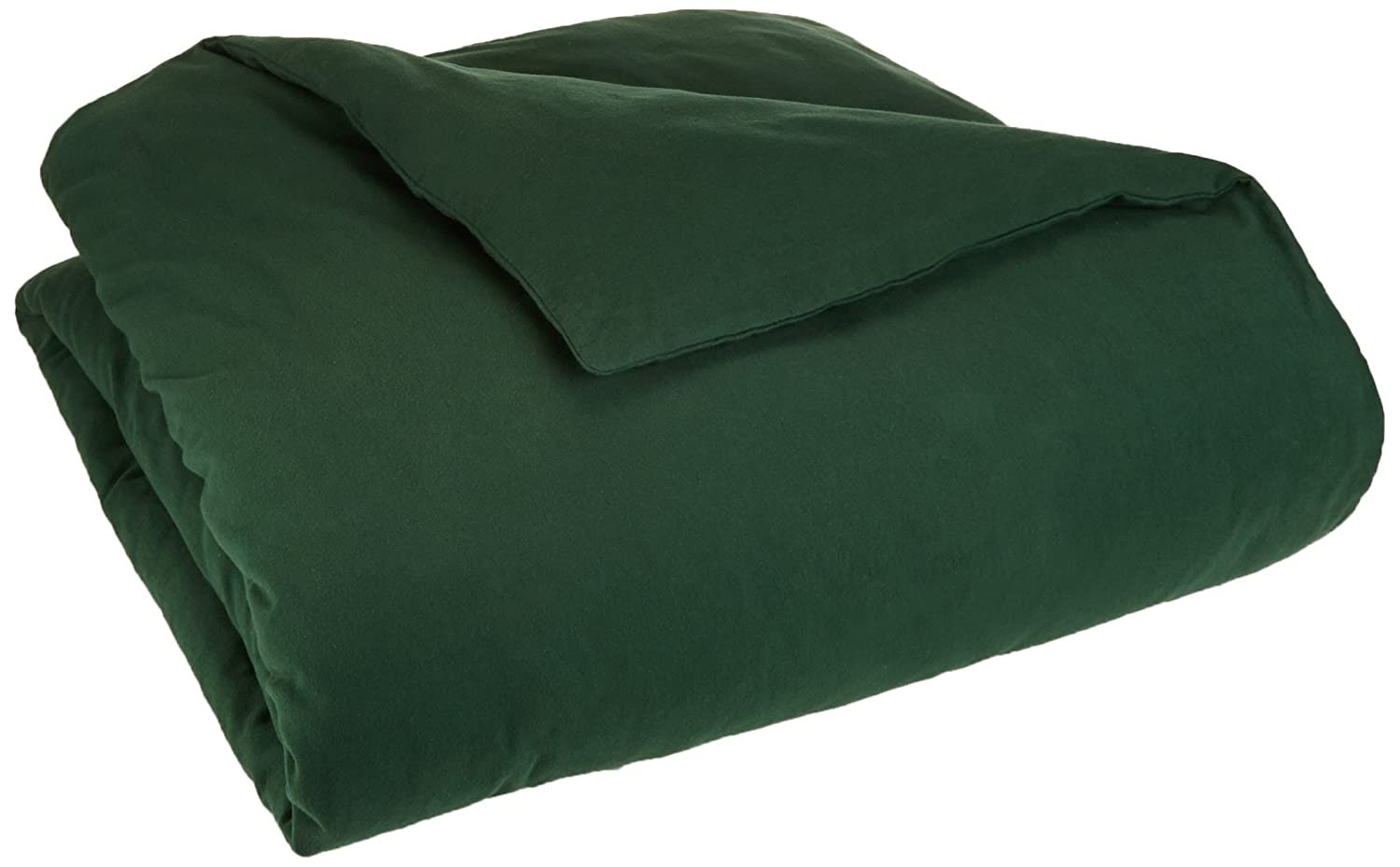 Flannel Duvet Cover - Full/Queen, Forest Green