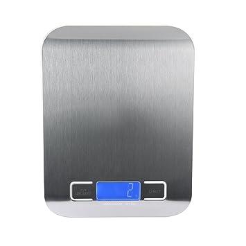 teepao Digital multifunción báscula de cocina, alimentos escala – Ultra delgado, fácil de limpiar