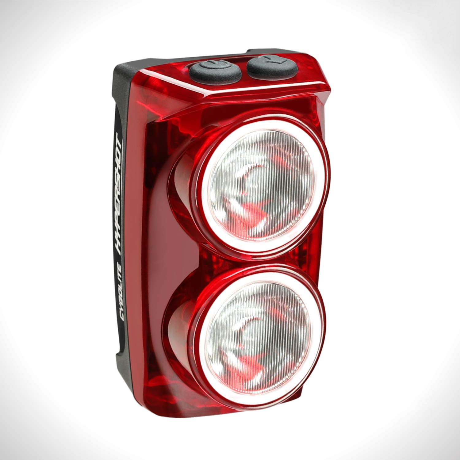 Cygolite Hypershot – 350 Lumen Bike Tail Light– 7 Night & Daytime Modes–User Adjustable Flash Speeds- Compact & Durable–IP64 Water Resistant–Secured Hard Mount–USB Rechargeable–Great for Busy Streets