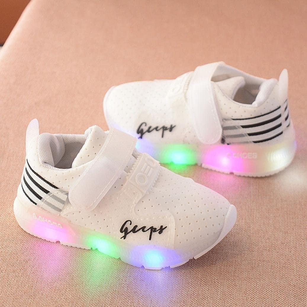 Longra/® for 1-6 Years Old Light Up Luminous Sneakers Anti-Skid Baby Girls Boys Toddler Shoes Toddler Kids Soft Casual Girls Sports Shoes LED Light Shoes