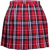 【ぴゅありぼん】大きいサイズ 3XL チェック柄 プリーツ スカート 4color 男の娘 メンズ対応サイズ TOKYO GOODS MARKET (赤黒白チェック柄)