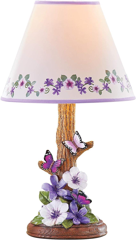 Floral Flower Purple Teal Retro Handmade Printed Fabric Lamp Drum Lampshade 587